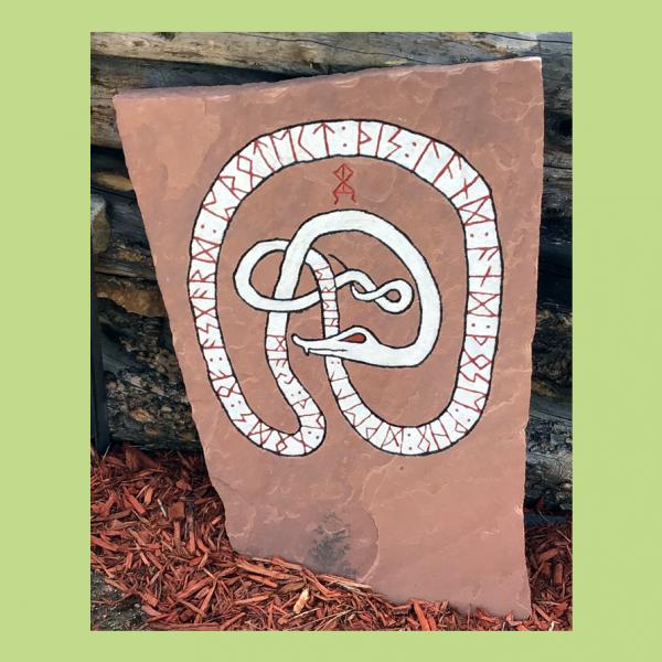 Snake Large Stone engraved