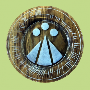 Awen Engraved Plate